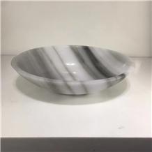 Smoked Onyx Round Stone Basin Drop in Sink