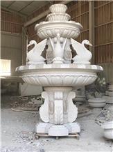 Luxury Villa Granite Fountain Landscape Design
