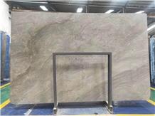 Mona Lisa Grey Marble Tile Floor Wall Installation