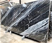 Ocean Black Marble Slabs