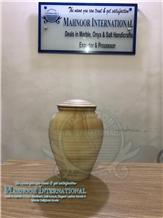 Teak Wood Marble Urns