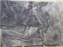 Black Wavy White Marble