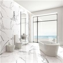 Calacatta Carrara White Marble Bathroom Wall&Floor