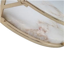 Jade Marble Base/Tray/White Marble for Decoration