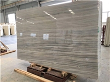 Light Grey Putin Wood Marble Slabs Bathroom Tiles
