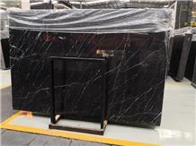 Polished Kentavros Black Marble Floor Tiles