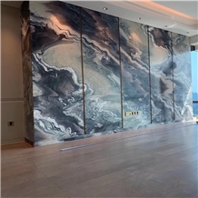 Polished Violet Butterfly Marble Tiles