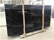 Volos Markina Black Marble Floor Covering