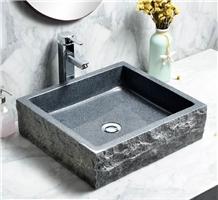 G654 Dark Grey Granite Vessel Sinks Wash Basins