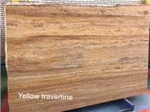 Azarshar Yellow Travertine Slabs