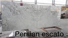 Persian Sacto Marble Slab, Iran White Marble