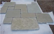 Tandoor Yellow Limestone Paving, Tandur Limestone Pattern