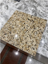 Cheap Yellow Pearl and Green Diamond Granite Slabs