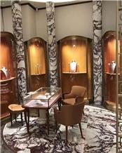 Calacatta Viola Marble Indoor Column
