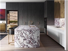 Calacatta Viola Marble Kitchen Countertop