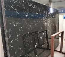 Artificial Black Marble in White Veins Slab