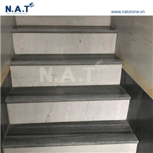 Vietnam Striped Grey Marble Steps Stairs