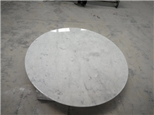 Bianco Carrara Marble Round Cafe Table Top