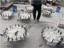 Calacatta Carrara White Marble Round Coffee Table