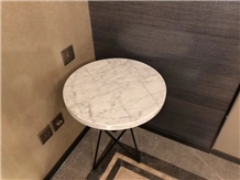 Carrara Marble Stone Furniture- Round Table Design
