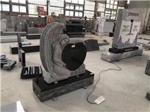 China Absolute Shanxi Black Granite Angel Heart Headstone, Gravestone