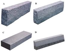China Grey Granite Exterior Stone Kerbstone / Curb