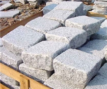 China White Grey Granite Bricks Cube Stone Pavers