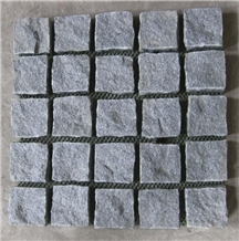 G654 Grey Granite Cobble Cube Stone Road Pavers