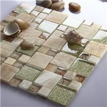 Honey Onyx Mosaic Pattern Wall Tiles