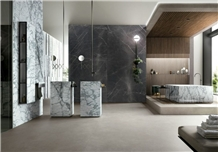 Invisible Blue Marble Villa Wall Panel Tile Decoration