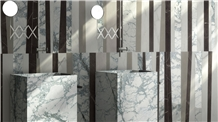Invisible Blue Marble Wash Basins / Square Sinks Hotel Decoration