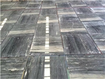 Italy Palissandro Blue Marble Slab Polished Tiles