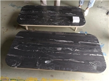 Silver Dragon Marble Honed Interior Table Top-Stone Furniture