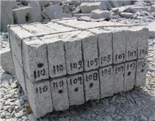 Split Face China White Granite Garden Curbs / Kerb