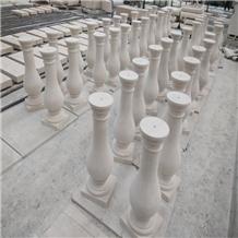 White Breeze Limestone Balcony Balustrade Rails