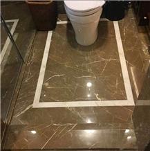Kazoffie Brown Marble Floor Tiles for 5-Star Hotel