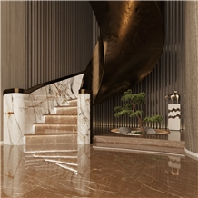 New Marble - Kozo Brown Building Hotel Lobby Stair Floor Step,Risers