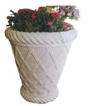 Mint White Sandstone Urban Designed Flower Pots