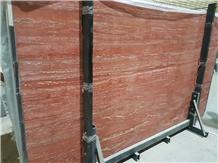 Persian Red Travertine Slabs