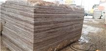 Silver Titanium Travertine Blocks