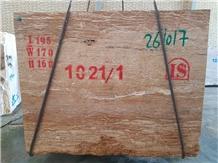 Walnut Travertine Blocks, Iran Brown Travertine