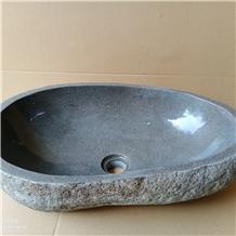 Batu Andesite River Stone Vessel Sink