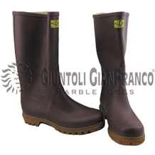 Trento Brown Rubber Steel Toe Boots