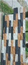 Wall Cladding Random Orange, Black,White, Xiolit Cladding Stone