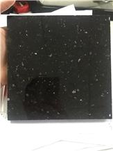 China Black Galaxy Star Granite Tile, Slab Wall
