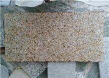 China G350 Bush Hammered Sun Gold Granite Floor Ti