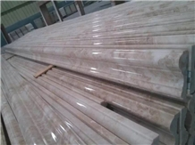 Classic Cream Beige Marble Dome Molding Lines