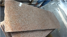 G350 Bush Hammered Shandong Sun Rust Granite Slab