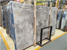 Galaxy Gray Marble Polished Kitchen Slab, Prefab Cut Bathroom Wall Tile