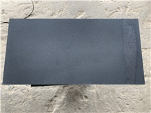 Hainan Black Basalt Lava Stone Floor Tile Honed